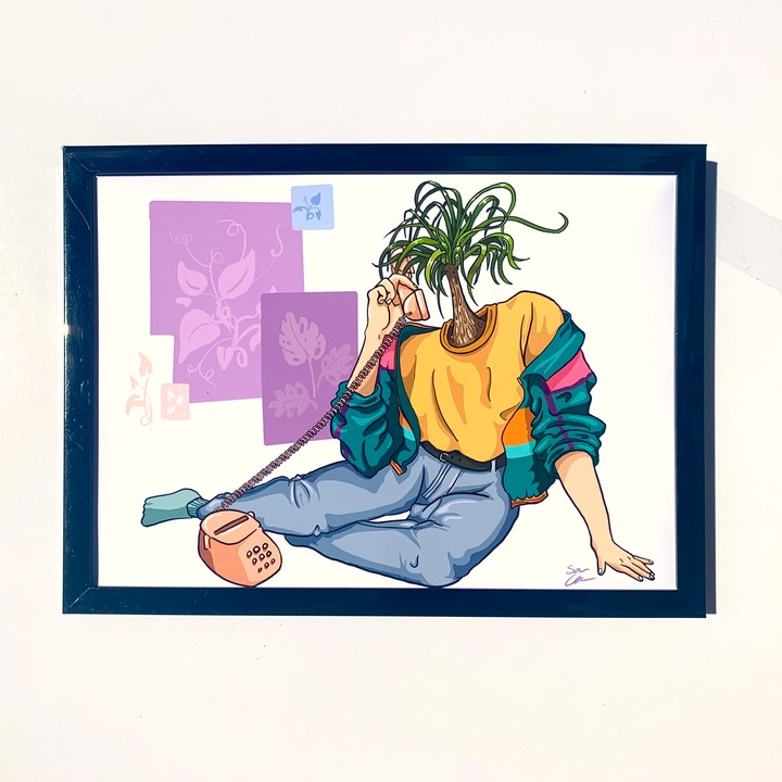 Image of 80's Plant Person