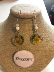 Image of Pressed Flower Resin Earrings