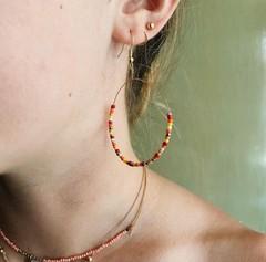 Image of Beaded Drop Earrings