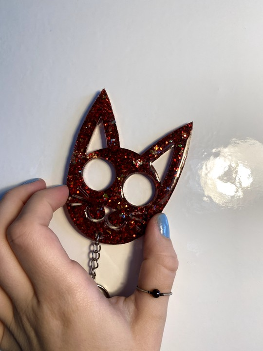 Image of Red Kitty Kat Keychain