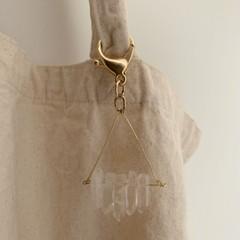 Image of gold quartz keychain