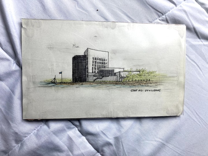 Image of Drawing of JFK Library