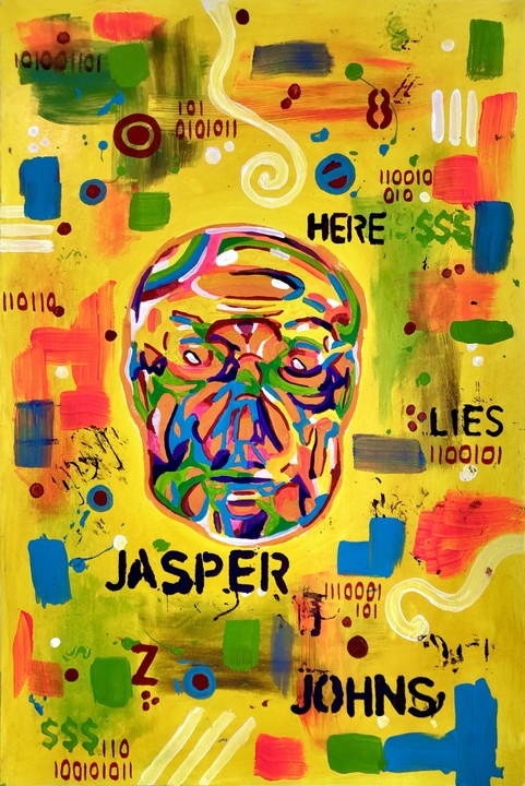 Image of Jasper Johns (archival art print)