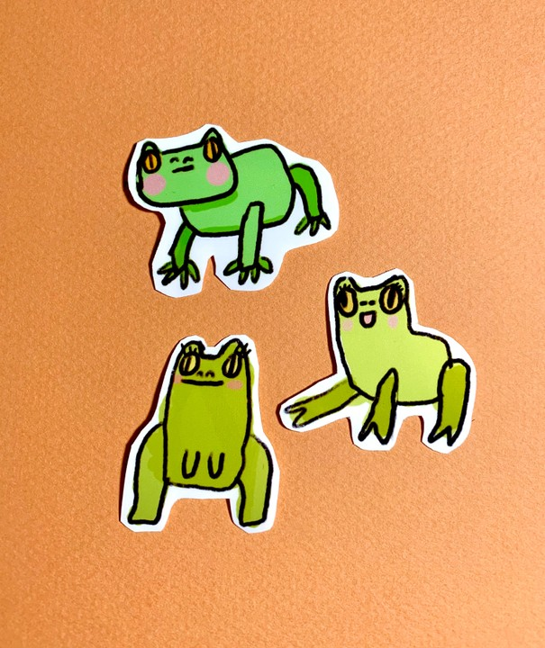 Image of Doodle Frog Stickers!