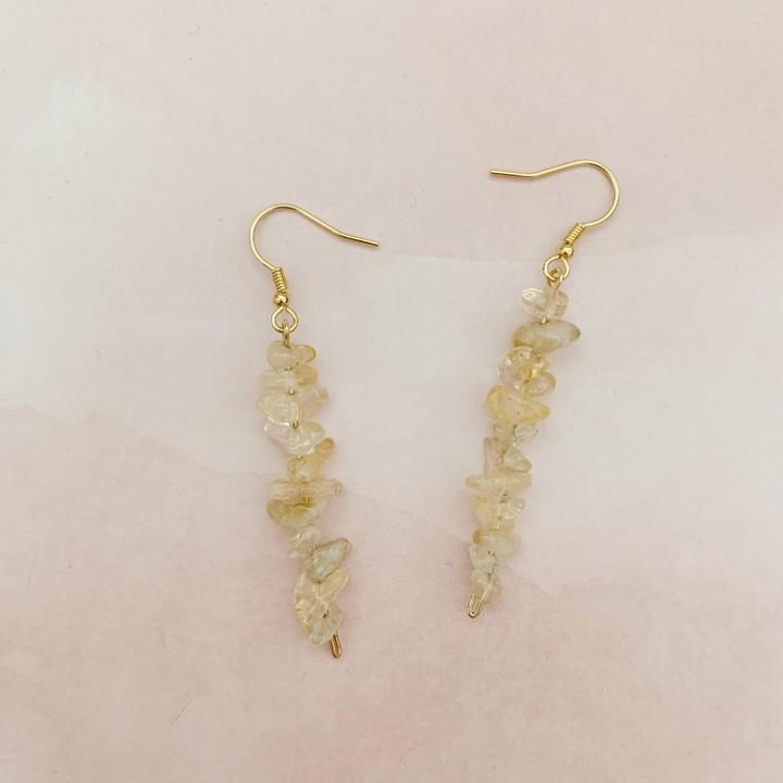 Image of gold citrine earrings