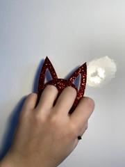 Image of Burgundy Kitty Kat Keychain