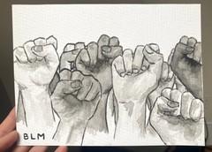 Image of Black Lives Matter Ink Painting