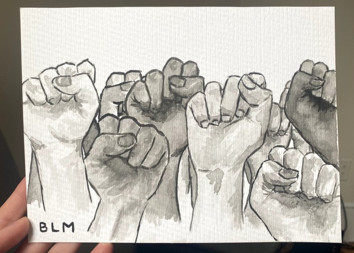 Image of Black Lives Matter Ink Painting