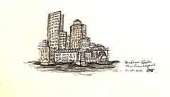 Image of Boston Harbor Architectural Drawing