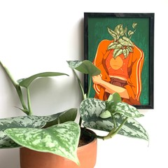 Image of Silver Pothos Plant Person