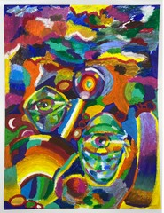 Image of Abstratct Oil Pastel (fine art archival print)