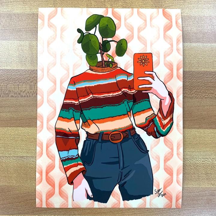 Image of Vintage Plant Person Print