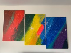 Image of Large 3 Piece Acrylic Statement Piece